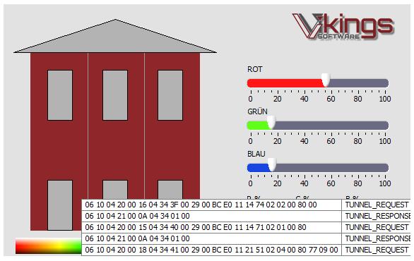 Portfolio Homeautomation LED Steuerung mit LabVIEW KNX API