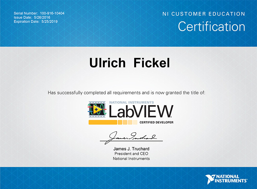Uli Fickel Certified Developer Vikings Software GmbH