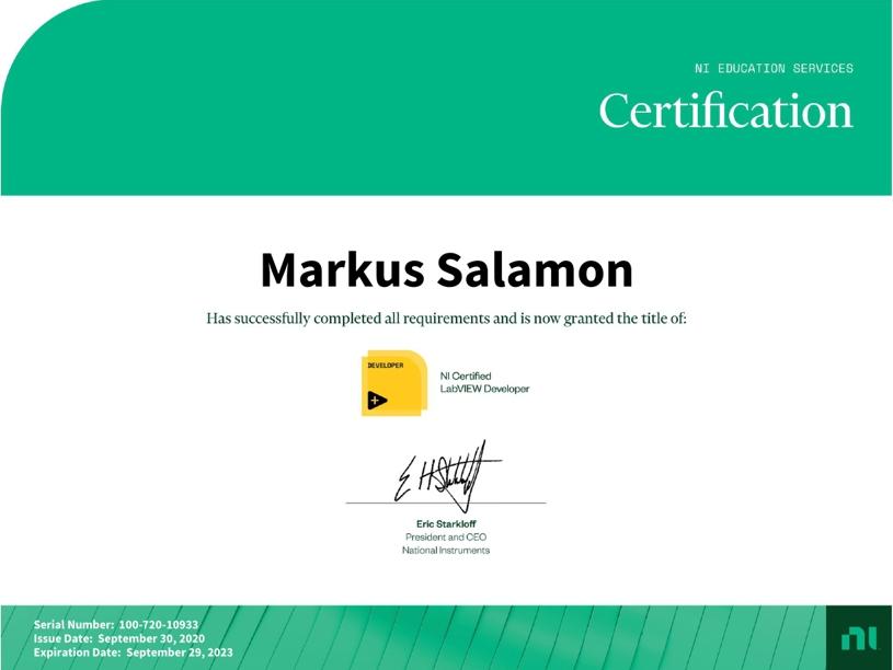 NI CLD Zertifikat Markus Salamon